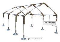 Odc 18x40 Canopy Fittings Tarp Kit 1 3 8 No Poles Legs Carport Boat Rv Garage Ebay Carport Carport Canopy Portable Carport