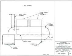 Custom Designed Smoker Plans Basic (will be published) Build A Smoker, Diy Smoker, Propane Smokers, Food Smokers, Custom Smokers, Smoker Designs, Offset Smoker, Grill Design, Cabinet Styles