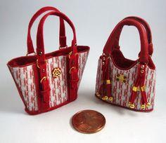 Miniaturas bolsos: Bolsos homenaje combinados (8)
