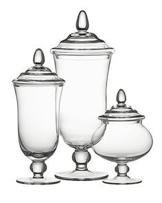 These glass Delfina covered jars can serve both functional and aesthetic purposes. I want them just coz they're pretty!