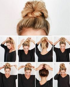 Check out our collection of easy hairstyles step by step diy. You will get hairs. Check out our collection of easy hairstyles step by step diy. You will get hairstyles step by step tutorials, easy hairstyles quick lazy girl hair hac. Easy Work Hairstyles, Trendy Hairstyles, Beautiful Hairstyles, Nurse Hairstyles, Cute Bun Hairstyles, Easy Everyday Hairstyles, Easy Work Updos, Lazy Girl Hairstyles, Cute Updos Easy