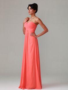 Pleated Bodice Chiffon Dress