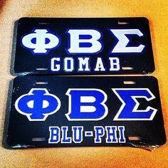 Phi Beta Sigma license plates