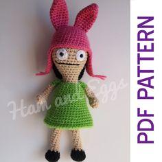 PDF Amigurumi Louise Belcher Crochet Pattern Bob's by HamAndEggs