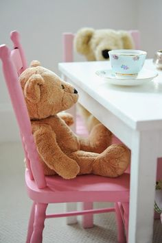 Teddy bear tea; can hardly wait to have a tea party with my sweet little grand daughter! @Brenda Benton