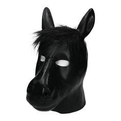 Mit der Pferdemaske finden Sie sich spielend leicht in Ihre Rolle beim Pony-Play ein. Die detailreich gestaltete Maske aus schwarzem Latex ergänzt Ihr Pony-Play-Outfit perfekt. Herausgearbeitete Nüstern, gerade stehende Ohren und eine prächtige Mähne aus schwarzem Kunstfell machen die Maske zu einem optischen Highlight.  #fetish #flogger #kink #femdom #mistress #bdsmcommunity #bdsmlifestyle #kinky #domination #fashion #erotic #sub #submissive #domina #slave Dildo, Latex, Cool Things To Buy, Stuff To Buy, Submissive, Outfit, Animals, Sparkling Eyes, Ears