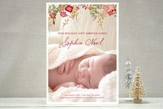Fleurs De Noel Holiday Photo Cards by Cecile Paper Lounge at minted.com