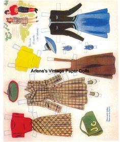 Judy Garland paper doll clothing