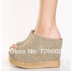 Elevator platform open toe platform wedges shoes women's single shoes high-heeled slippers sandals 34 - 40