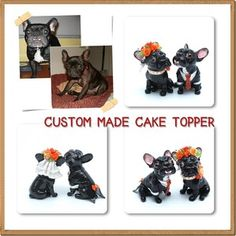 http://stores.ebay.com/madamepOmm-BlueWitch  CUSTOM MADE WEDDING CAKE TOPPER DOG CAT FIGURINE LIKENESS YOUR PET ONE OF A KIND