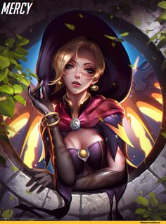 Liang Xing,artist,Mercy (Overwatch),Overwatch,Blizzard,Blizzard Entertainment,фэндомы,Witch Mercy