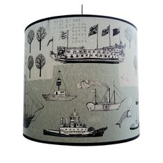 Our new Nautical lampshade -it's a big one!