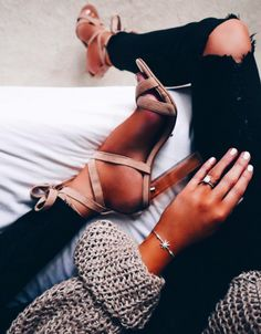 suede lace up heels || tony bianco