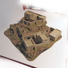 Afghan N W Frontier Mountain Village 20mm Scale Blastwall Buildings | eBay