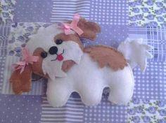 ARTESANATO COM QUIANE - Paps,Moldes,E.V.A,Feltro,Costuras,Fofuchas 3D: Molde cachorrinho de feltro