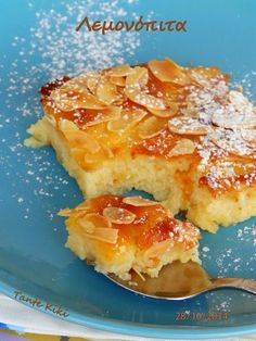Pureed Food Recipes, Lemon Recipes, Sweets Recipes, Greek Recipes, Desert Recipes, Cake Recipes, Cooking Recipes, Greek Sweets, Greek Desserts