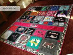 This quilt is perfect - more like what I wanted to do.  Follow the tutorial to figure out how to make it