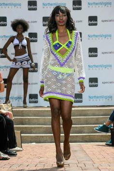 Models rocking the runway in some stylish beach looks.