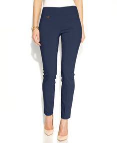 175be0775c Alfani Petite Tummy-Control Pull-On Skinny Pants