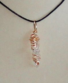 Wire Wrapped Natural Quartz Crystal Point Pendant by CrystalLinda