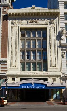 The Ritz Carlton Hotel on Canal Street in the French Quarter in New Orleans
