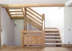 Garde corps et escalier en vieux bois