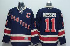 New York Rangers  11 Mark Messier Dark Blue Third Stitched NHL Jersey Nhl  Hockey Jerseys 8c349776a