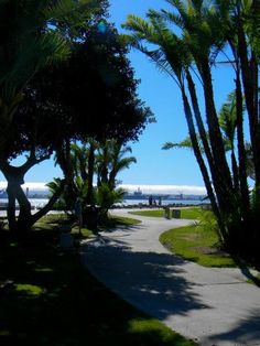Seaport Village, San Diego, CA, Walking Path, Embarcadero Park