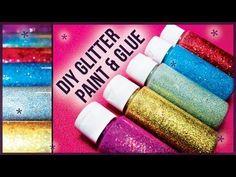 DIY Glitter Glue Paint / How to Make! Easy + Cheap - YouTube