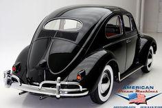 1957 small back window Beetle.
