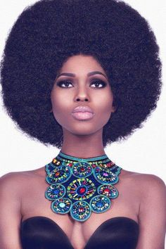 Afro! ladies / women hair fashion styles love!! https://www.shorthaircutsforblackwomen.com/natural-hair-breakage-treatment/ www.addisonrenee.com
