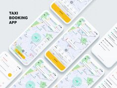 Taxi Booking App by Ishan Madushka - Dribbble Design Taxi, App Ui Design, Zentangle, Ui Design Mobile, Iphone Ui, Android App Design, Mobile App Ui, Application Design, Tela
