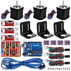 For Arduino Professional 3D printer CNC Kit,Longruner GRBL CNC Shield +UNO R3 Board+RAMPS 1.4 Mechanical Switch Endstop+DRV8825 A4988 GRBL Stepper Motor Driver with heat sink+Nema 17 Stepper Motor
