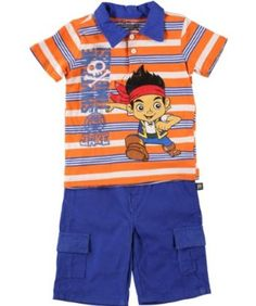 3T or 4T $40 Shirt /& Pants Clothing Set Outfit Sz JAKE NEVER LAND PIRATES Vest