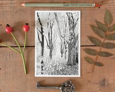 Postcard Tree 1  woodland decor tree picture by TheresaGrieben