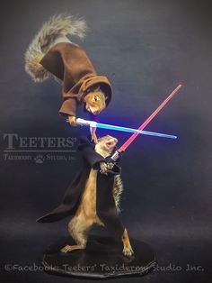 Star Wars Collector Light Up Jedi Squirrel Mount Taxidermy
