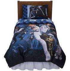 DISNEY KIDS TWIN WARM PLUSH RASCHEL BEDDING THROW BED BLANKET STARWARS THE SAGA