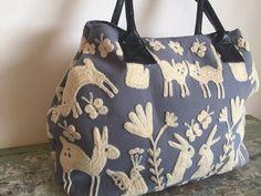 Suzani Handbag - Forest Grey Blue - www.summerhousenz.co.nz