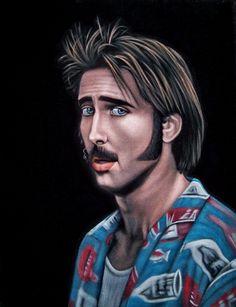 H.I. McDunnough - Raising Arizona - Bruce White Nicolas Cage, Raising Arizona, Velvet Painting, Beautiful Sketches, Epic Art, Awesome Art, The Big Lebowski, White Velvet, Film Movie