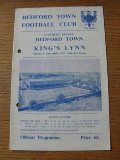 24/04/1967 Bedford Town v Kings Lynn FC
