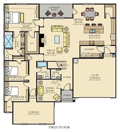 Ballard New Home Plan in Imagery - Pinnacle by Lennar Make some adjustments. New House Plans, Dream House Plans, Small House Plans, House Floor Plans, Morton Homes, Earth Bag Homes, Pole Barn Homes, New Home Construction, House Blueprints