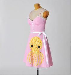 gingham octopus dress  rockabilly dress small by aorta on Etsy, $48.00 Love stuff like this