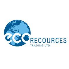 Werner Design, 2019, Logoentwicklung für Ecoresources Trading Ltd.. Die Firma handelt mit Altpapier und Altkarton Recycling, Marken Logo, Portfolio, Logos, Symbols, Letters, Design, Old Paper, Paper Board