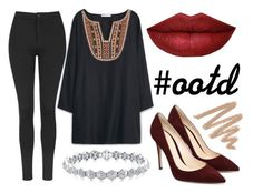 """""""#ootd"""" by victoriakfc ❤ liked on Polyvore featuring MANGO and Topshop"""
