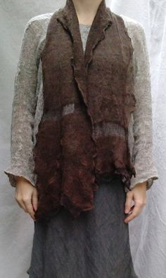 Chocolate Scarf  Handknit Art to Wear by caramay on Etsy, $80.00