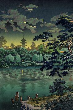 """""""Ueno Shinobazu Pond"""" Tsuchiya Koitsu"""