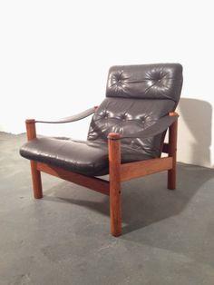 Danish Teak and Leather lounge chair circa 1970