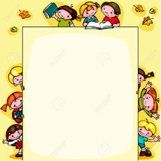 The gallery for --> Kindergarten Borders And Frames Borders For Paper, Borders And Frames, Molduras Vintage, Kindergarten, Fall Clip Art, School Frame, Stationary School, Page Borders, Collage Frames