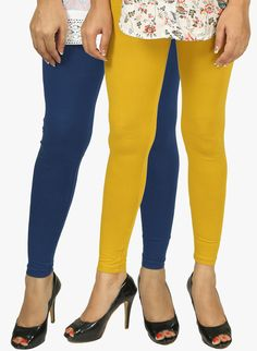PACK OF 2 MULTICOLOUREDCOLOR SOLID LEGGINGS
