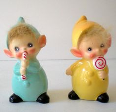 kitschy Pair Josef Originals Pixies or Elves In Original Boxes from californiagirls on Ruby Lane